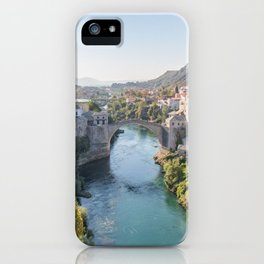 Old Town and Bridge in Mostar, Bosnia and Herzegovina iPhone Case