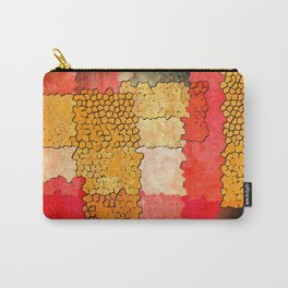 Orange Grunge Carry-All Pouch
