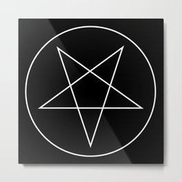 Pentagram of Set Metal Print