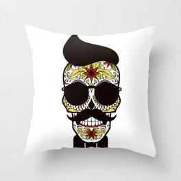 Mr. Sugar Skull Throw Pillow