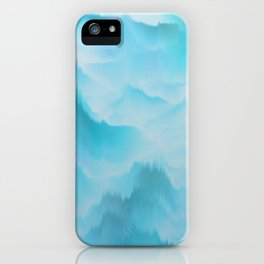 Clouds and mountains. Abstract. iPhone Case