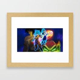 goku and vegeta super saiyan blue Framed Art Print