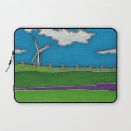 Windmill by Mali Vargas Laptop Sleeve
