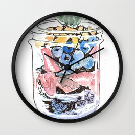 Jarfood. Strawberry and blueberry medley. Wall Clock