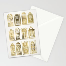 Moroccan Doors – Gold Palette Stationery Cards