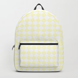 White and Cream Yellow Diamonds Backpack