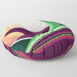 The Wave and The Dragon Floor Pillow