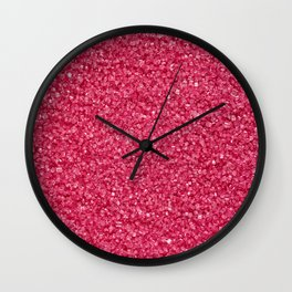 pink sugar Wall Clock