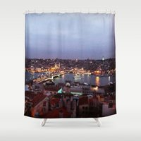 istanbul Shower Curtains featuring Istanbul by lizzy gray kitchens