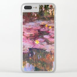 Claude Monet Water Lillies 1917 Clear iPhone Case