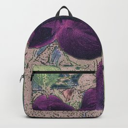 Dogwood Red-Violet on Tan Backpack