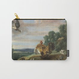 Frans Snyders - A Hawk And A Brood Hen Carry-All Pouch