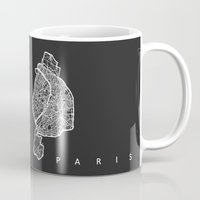 paris Mugs featuring PARIS by Nicksman
