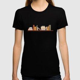 Bookshelf Pattern Dark T-shirt