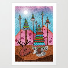 A Christmas Moment Art Print