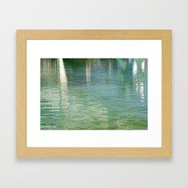 Aqua Abstract Flow Framed Art Print