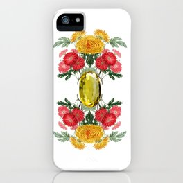 Birth Stone & Flower Print/NOVEMBER iPhone Case