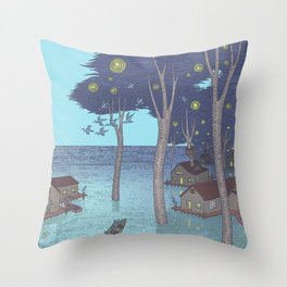 port of tomorrow Throw Pillow