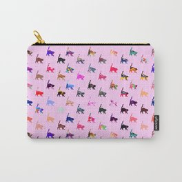 Pretty Cats - Pink Carry-All Pouch