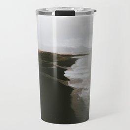 Moody black sand beach in Iceland - Landscape Photography Travel Mug