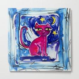 Angel Kitty by Kathy Morton Stanion Metal Print