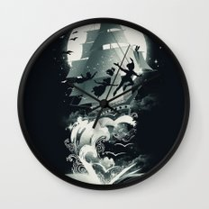Book of Dreams and Adventures Wall Clock