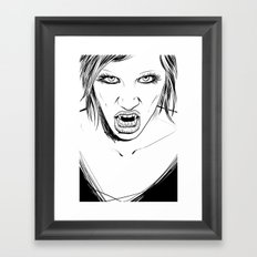 Vampire Lady Framed Art Print