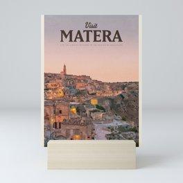 Visit Matera Mini Art Print