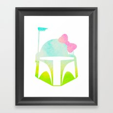 Star Wars Boba Fett and Bow 1 Framed Art Print