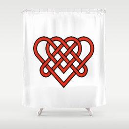 Celtic He Loves Me He Loves Me Knot Shower Curtain