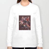 paisley Long Sleeve T-shirts featuring paisley by callahaa