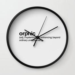orphic Wall Clock