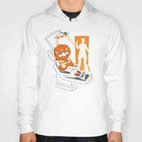 dentist Hoodies featuring Are You Afraid of the Dentist? by Marco Angeles