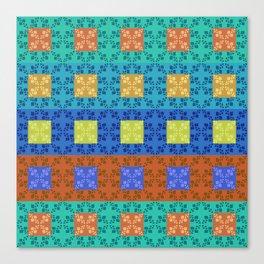 Simple retro Fresh Lines and Squares Canvas Print