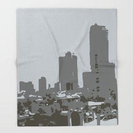 Tel Aviv Beach Throw Blanket