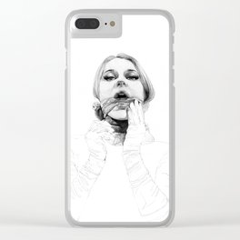 A touch of silk Clear iPhone Case