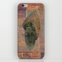 #12 Face & Metal Digital Collage iPhone Skin