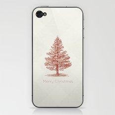 Simple Christmas Tree iPhone & iPod Skin