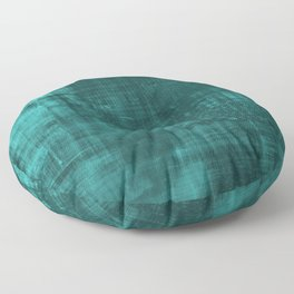 Teal Green Solid Abstract Floor Pillow