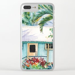 Tropical Vacation Cottage Clear iPhone Case