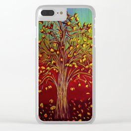 Abstract Fall tree Clear iPhone Case