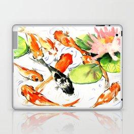 Koi Fish Pond, Feng Shui 9 koi fish art Laptop & iPad Skin