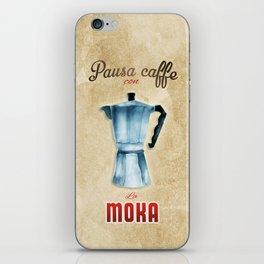 Cafe Poster: Coffee Break with Moka iPhone Skin