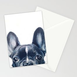 Hand painting French Bulldog Dog illustration original painting print Stationery Cards