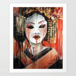 Geisha in Autumn Rain: The Innocent Concubine Art Print