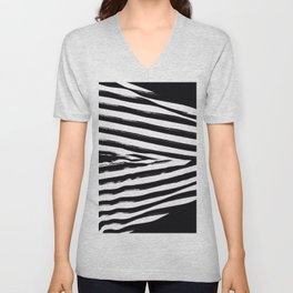 Black & White Stripes Unisex V-Neck