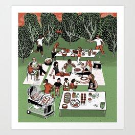 Summer BBQ Art Print