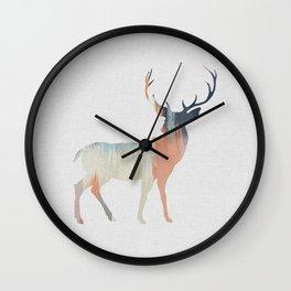 Pastel Deer Wall Clock