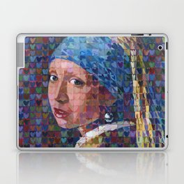 "I ""Heart"" Girl With A Pearl Earring Laptop & iPad Skin"