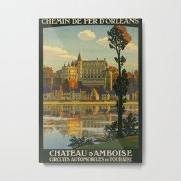 Chateau d Amboise Travel Poster Metal Print